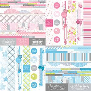 "Picture of Baby Bundle by Katie Pertiet 2"" Border Strips - Set 12"
